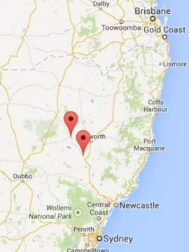 NSW Google Map 2014 showing both offices -Featured Image